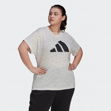 T-Shirt, ecru meliert, Gr.44/46-56/58