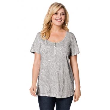 Große Größen: T-Shirt in Ausbrenner-Qualität, hellgrau, Gr.40/42-56/58