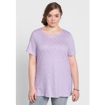Große Größen: T-Shirt mit Alloverdruck, pastellflieder, Gr.40/42-56/58