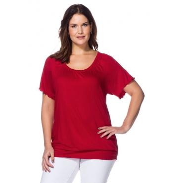 Große Größen: T-Shirt mit Raglan-Flügelärmeln, rot, Gr.40/42-56/58
