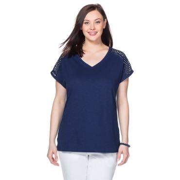 Große Größen: T-Shirt, nachtblau, Gr.40/42-56/58