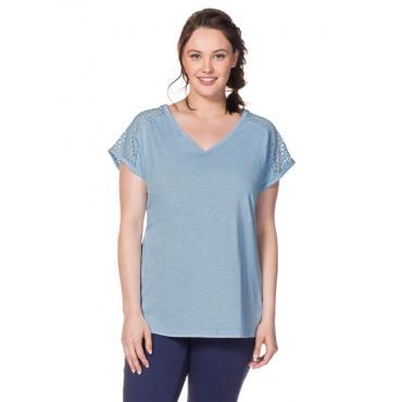 Große Größen: T-Shirt, pastellblau, Gr.40/42-56/58