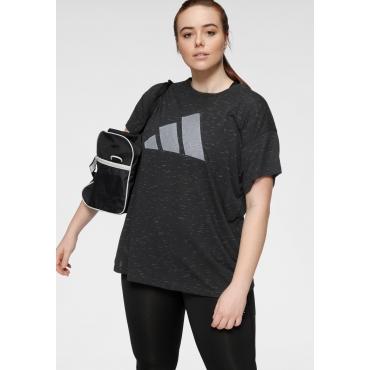 T-Shirt, schwarz meliert, Gr.44/46-56/58