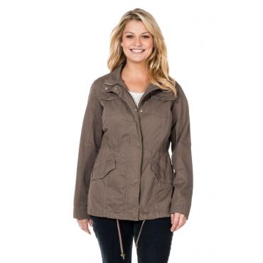 Große Größen: Taillierte Jacke, taupe, Gr.40-58