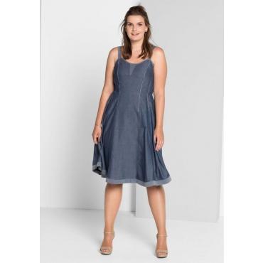 Große Größen: Trägerkleid im Denim-Look, blau, Gr.40-58