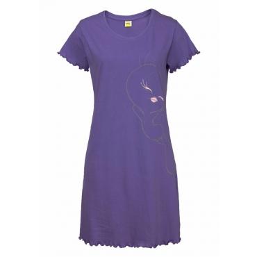 Große Größen: Tweety Nachthemd mit großem Tweety-Druck, lila, Gr.40/42-56/58