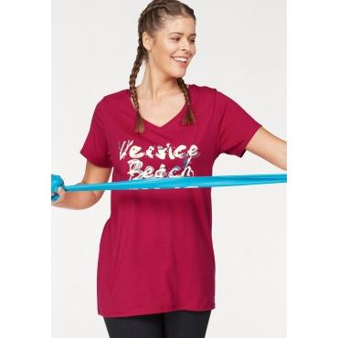 Große Größen: Venice Beach Longshirt, rot, Gr.44/46-56/58