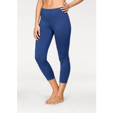 Große Größen: Vivance Capri-Leggings mit leicht glänzender Oberfläche, blau, Gr.40/42-52/54