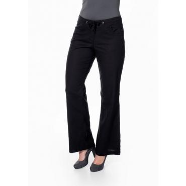 Große Größen: Weite Hose mit Leinen-Anteil, schwarz, Gr.21-104