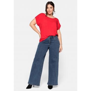 Weite Stretch-Jeans mit Kontrastnähten, blue Denim, Gr.44-58