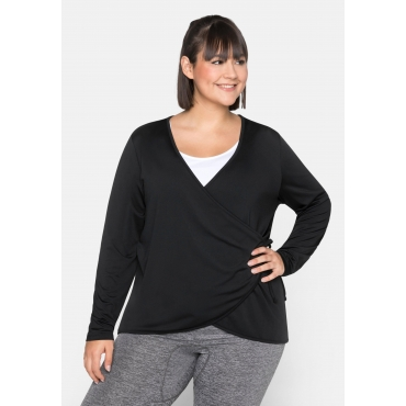 Yoga-Jacke aus Funktionsmaterial, schwarz, Gr.44/46-56/58
