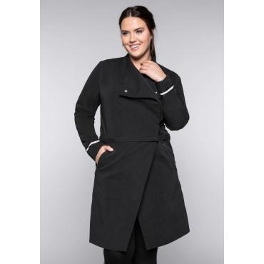 Große Größen: Zipp-Off-Mantel, schwarz, Gr.44-58