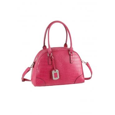 Handtasche mit Kroko-Prägung
