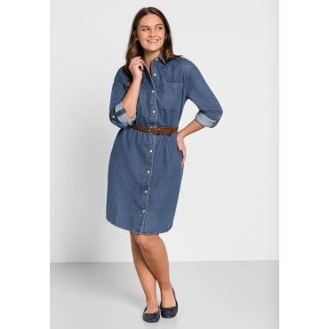 Jeans-Blusenkleid, blue Denim, Gr.44-58