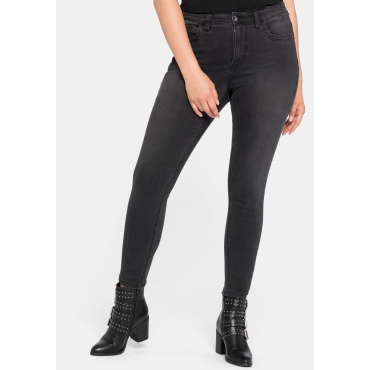 Jeans Super Skinny in superelastischer Qualität, black Denim, Gr.44-58