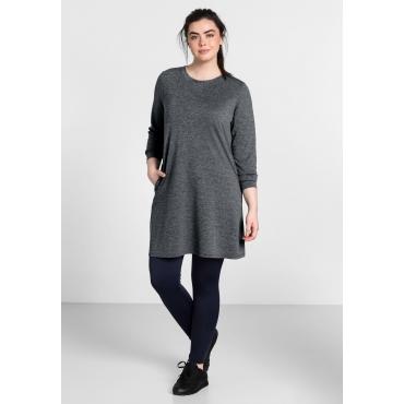 Jerseykleid aus Funktionsmaterial, grau meliert, Gr.44-58