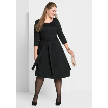 Jerseykleid in Wickeloptik, schwarz, Gr.40-58