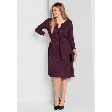 Jerseykleid mit Alloverdruck, aubergine, Gr.40-58