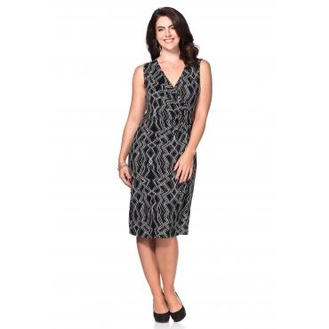 Jerseykleid mit Alloverdruck, schwarz-grau, Gr.40-58
