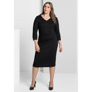 Jerseykleid mit Bodyforming-Innenkleid, schwarz, Gr.40-58