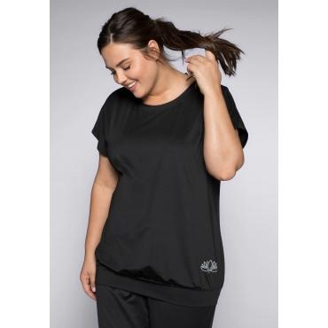 Jerseyshirt aus Funktionsmaterial, schwarz, Gr.40/42-56/58