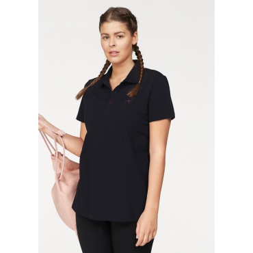 Poloshirt, schwarz, Gr.44/46-56/58