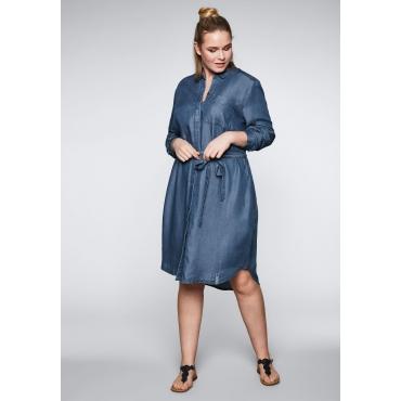 Kleid aus Lyocell in Denimoptik mit Taschen, blue Denim, Gr.44-58