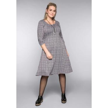Kleid im Glencheck-Muster, schwarz-grau, Gr.44-58