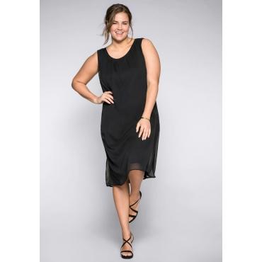 Kleid im Lagenlook mit tiefem Rückenausschnitt, schwarz, Gr.44-58