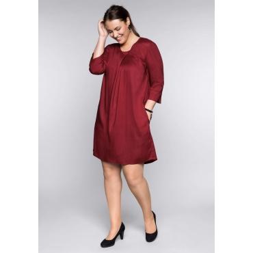 Kleid in A-Linie mit Cut-outs und Rundhalsausschnitt, rubinrot, Gr.44-58