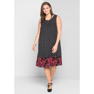 Kleid mit Allover-Paisleydruck, schwarz bedruckt, Gr.44-58