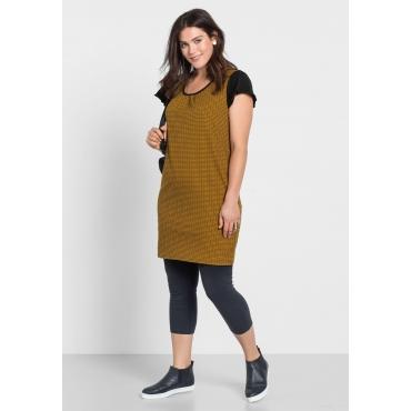 Kleid mit Alloverdruck, curry, Gr.40-58
