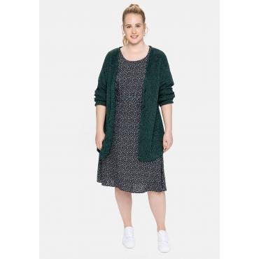 Kleid mit Alloverdruck und Gummizugbund, nachtblau bedruckt, Gr.40-58