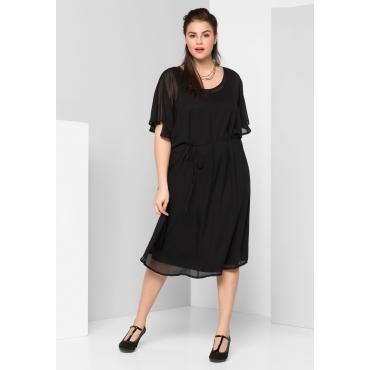 Kleid mit Fledermausärmeln, schwarz, Gr.44-58