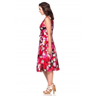 Kleid mit Herzausschnitt, mehrfarbig, Gr.40-58