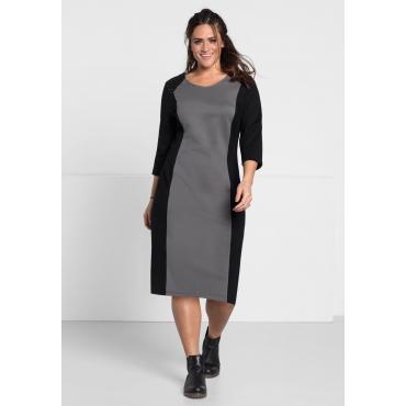 Kleid mit modischen Applikationen, rauchgrau, Gr.44-58