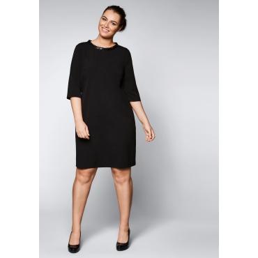 Kleid mit Pailletten-Details, schwarz, Gr.44-58