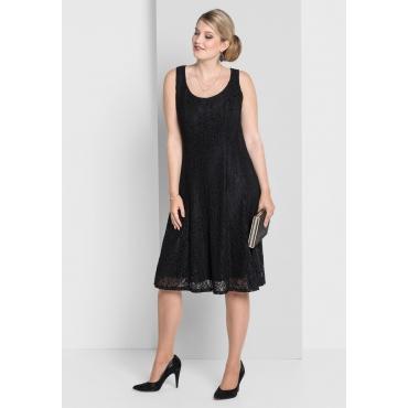 Kleid mit Spitze, schwarz, Gr.40-58