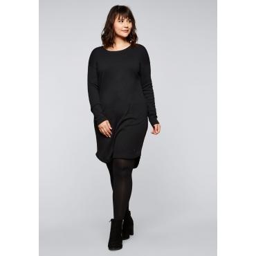 Kleid mit Taschen und Raffung im Rücken, schwarz, Gr.44-58