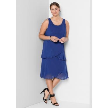 Kleid mit Volants, royalblau, Gr.40-58
