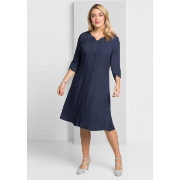 Kleid mit weit schwingendem Rockteil, marine, Gr.40-58