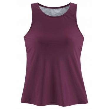 Bade-Shirt, bordeaux, Gr.44/46-52/54