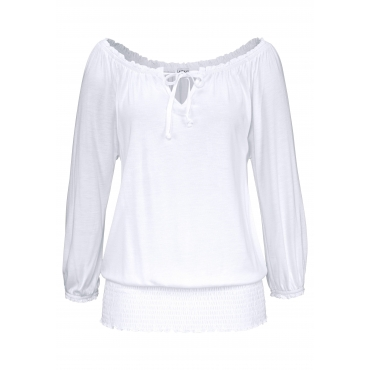 LASCANA Carmenshirt, weiß, Gr.40/42-52/54