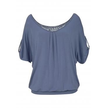 Strandshirt, rauchblau, Gr.44/46-52/54
