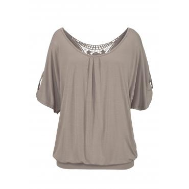 Strandshirt, taupe, Gr.44/46-52/54