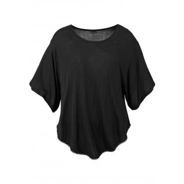 LASCANA Strandshirt, schwarz, Gr.40/42-52/54