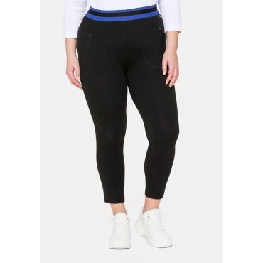 Leggings in 7/8-Länge, mit Taschen, schwarz, Gr.40-58
