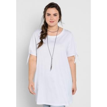 Longshirt in Oversize-Form, weiß, Gr.44/46-56/58