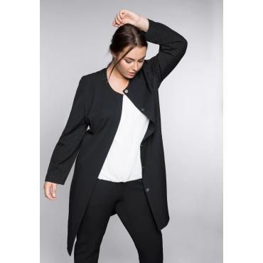 Mantel mit kontrastfarbenen Einsätzen, schwarz, Gr.44-58