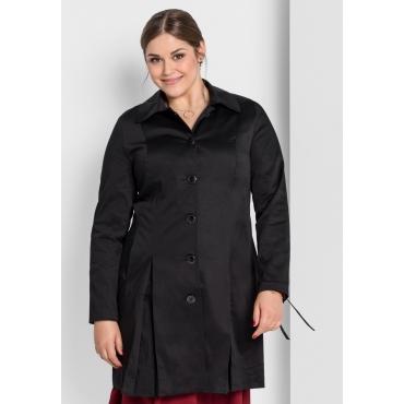 Mantel mit Schnürung am Ärmel, schwarz, Gr.40-58